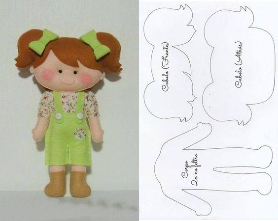 الگو عروسک نمدی